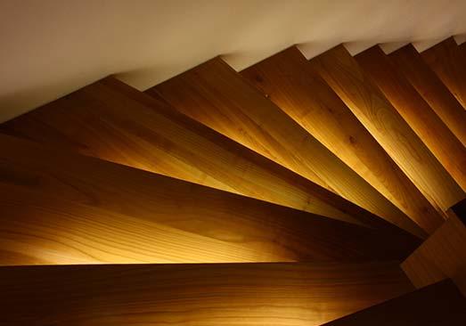 escalier bois à Mulhouse